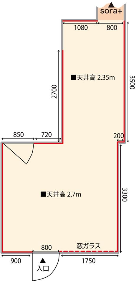 ギャラリーそら 大阪 見取り図